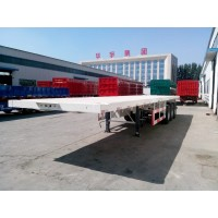 3 Axle Flatbed Semi Trailer | OEM