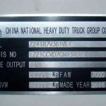What does a Sinotruk serial number actually mean?
