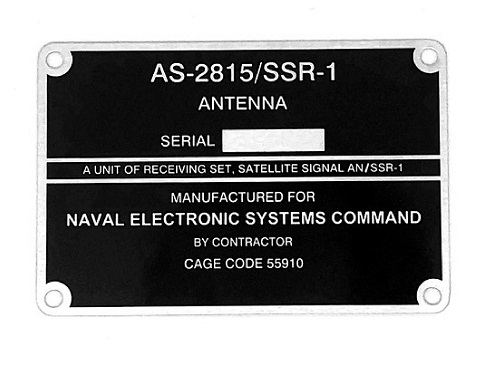Manufacturer plate for spare part
