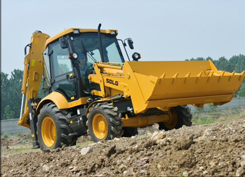A SDLG B877F machine is working for construction