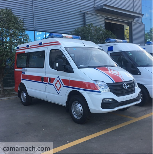 Ambulance is a life-saving emergency vehicles equipped with enough medical facilities.