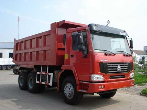 Dump truck is used to aid in the transportation of large volumes of loose materials.