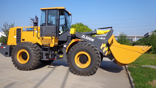 A model of XCMG ZL50GN wheel loading machine.