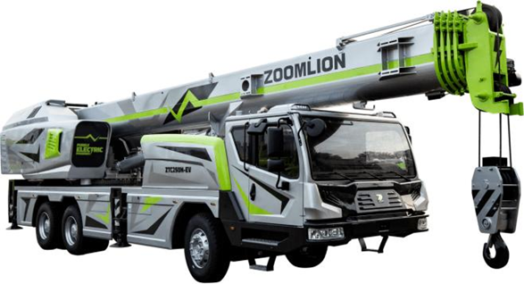 Zoomlion ZTC250N-EV – World's First Electric Crane Truck for Sale.