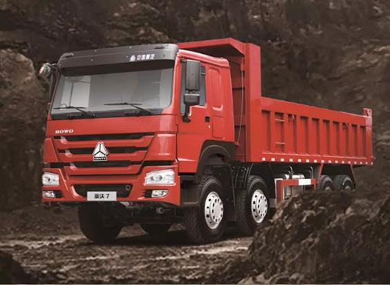 A model of Sinotruck 8x4 dump truck