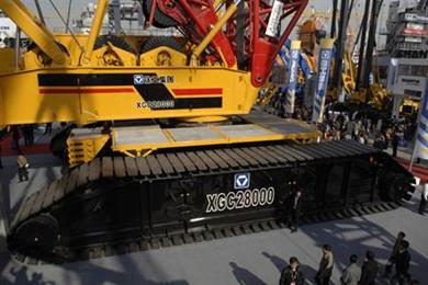 XCMG 88,000 tonne-meter rated lattice boom crawler crane for sale